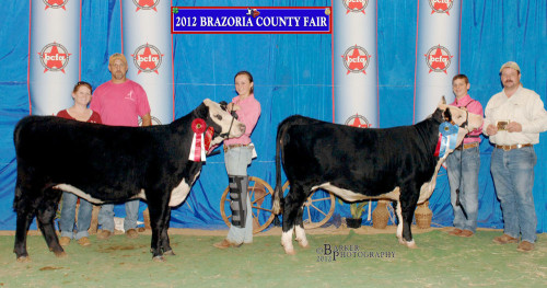 2012 Brazoria County Fair. Dylan Harris and Cassie Dorsett.